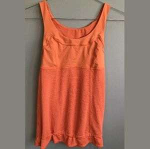 LULULEMON ATHLETICA Orange Tank Top Bra Size 2